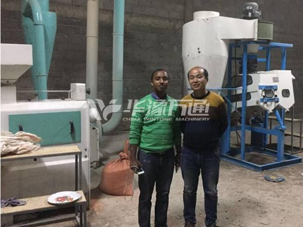 Ethiopia 1Ton/Hour Small Lentil Peeling Line