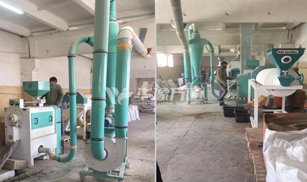 2T/Hour Lentil Peeling Line in Kazakhstan